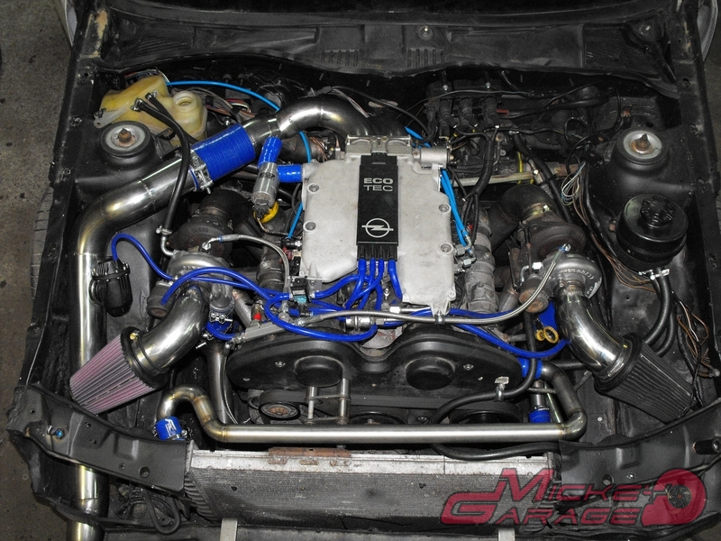 For Sale: RWD Opel Calibra with a Twin-Turbo V6 – Engine