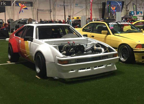 Toyota Supra JZA61 with a turbo 1JZ inline-six