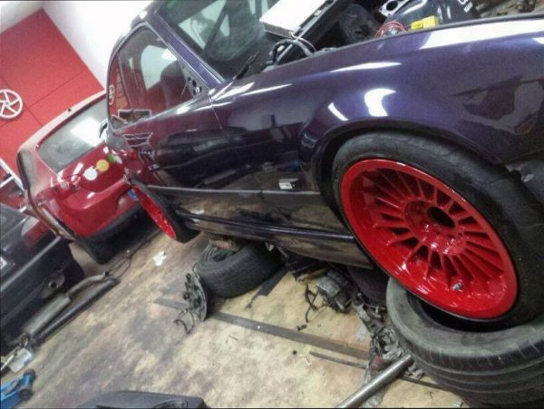BMW E36 with a Cosworth turbo inline-four