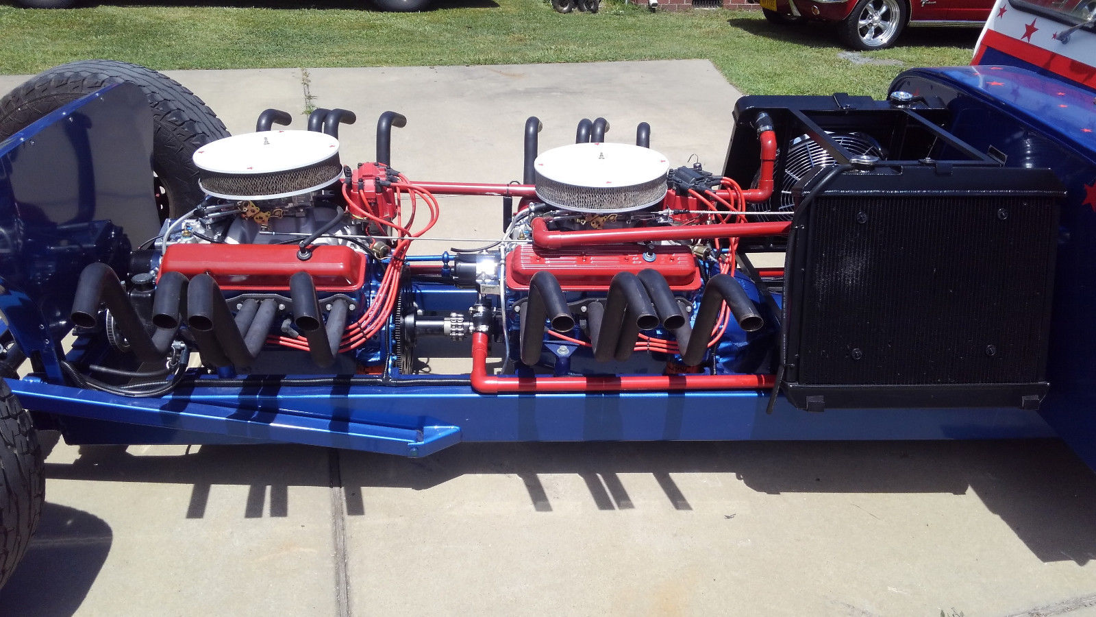 Jeep 2 5 Engine >> For Sale Custom Postal Jeep With Two 355 Ci Chevy V8s