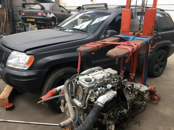 Jeep Grand Cherokee with a Cummins turbo diesel inline-four