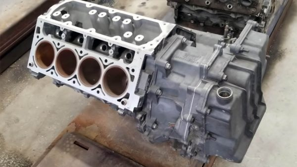 LS4 V8 block mated to a 4T80E four-speed automatic