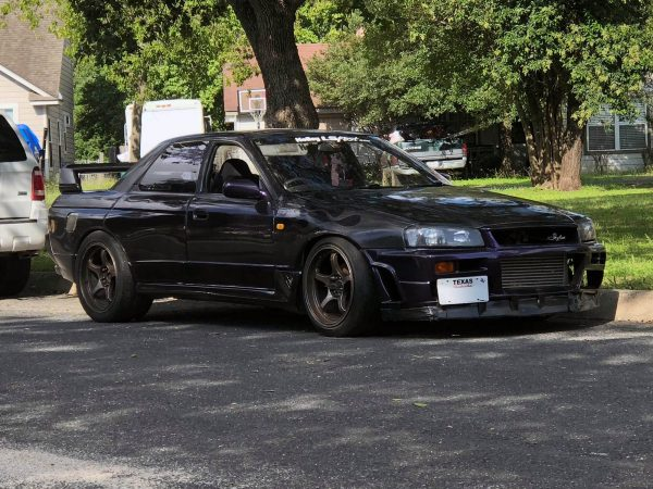 Nissan R32 sedan with a turbo LSx V8