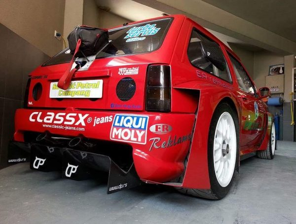 Opel Corsa with a Twin-Turbo Audi V6