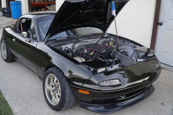 Taylor Ray Miata with a 5.3 L LSx V8