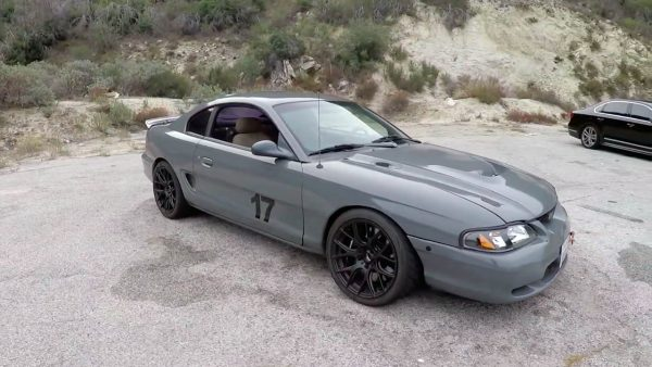 1995 Mustang GT with a turbo 2JZ-GTE inline-six