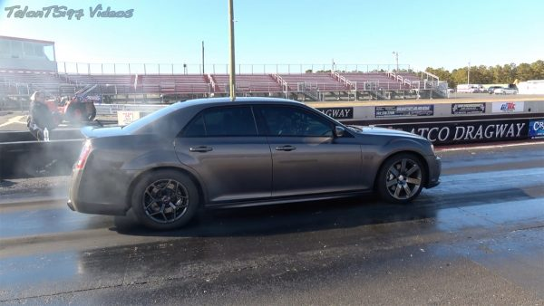 Chrysler 300 SRT-8 with a twin-turbo Hellcat V8