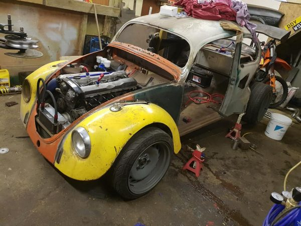 Custom VW Beetle with a RB25DET inline-six