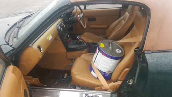 Mazda MX-5 with a 2.5 L KL V6