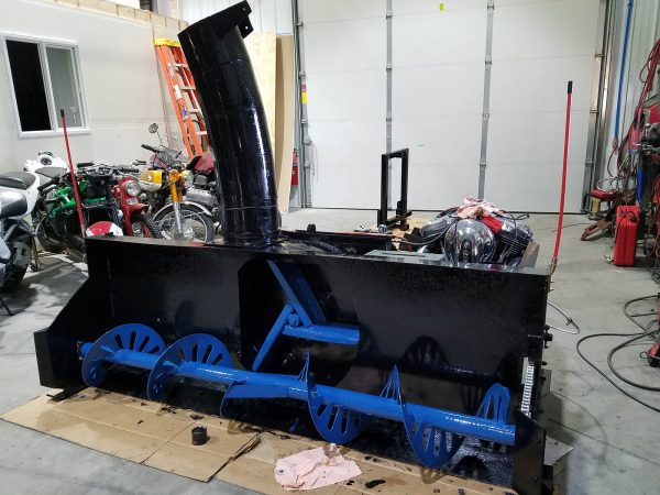 Mckee 720 Snowblower Powered by a Harley Davidson XL1200 V-Twin
