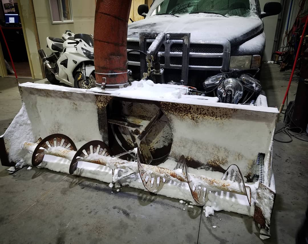 Snowblower Powered By A Harley