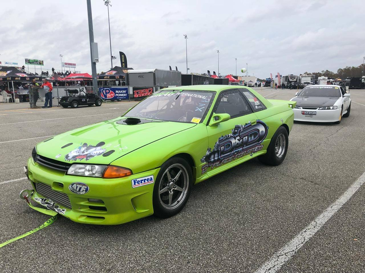 Medicine Man Racing Nissan R32 with a turbo 3.2 L 2JZ inline-six