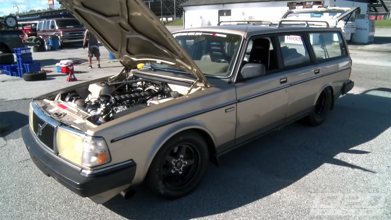 Volvo 240 with a turbo 6.0 L LSx V8