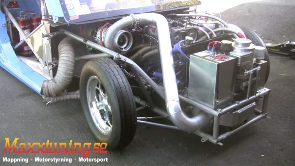 Volvo C70 Dragster with 1200 whp turbo inline-five