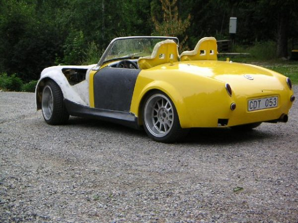 1960 Austin-Healey Sprite with a turbo Fiat inline-four