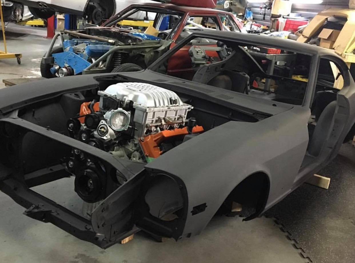 1970 Datsun 240Z with a supercharged Hellcat V8