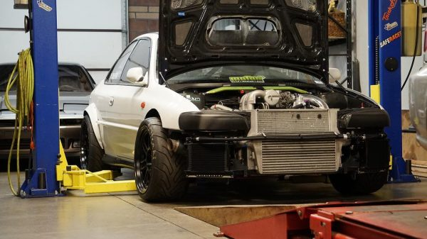 2000 Subaru Impreza with a twin-turbo 13B two-rotor