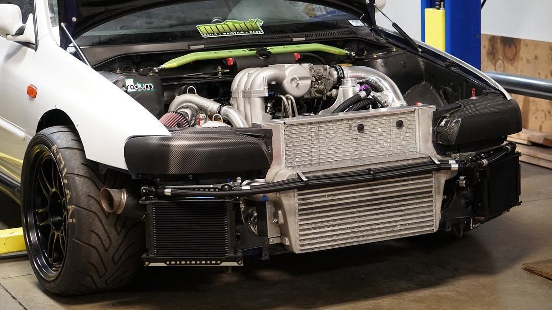 2000 Subaru Impreza with a Twin-Turbo 13B Two-Rotor – Engine Swap Depot