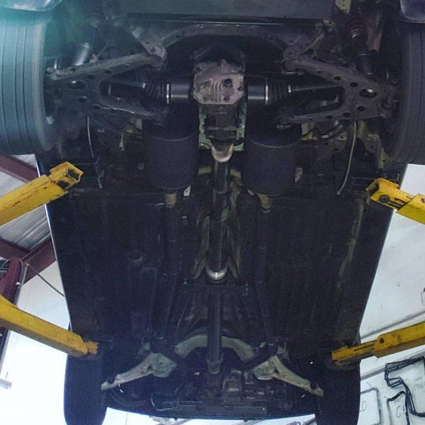 Mitsubishi 3000GT VR4 AWD drivetrain on a Honda Civic hatchback