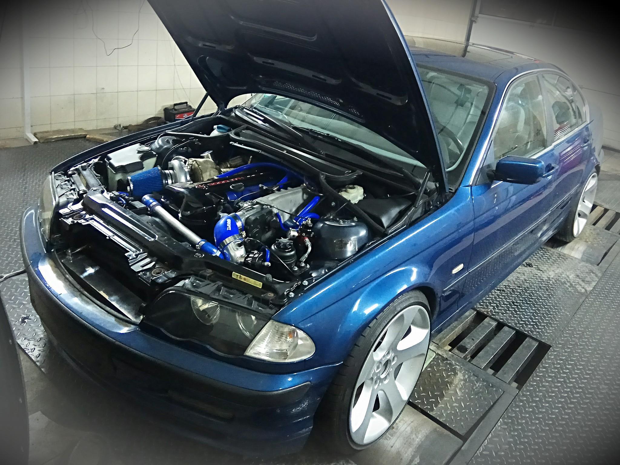 BMW E46 with a 700 hp Turbo 2JZ-GTE Inline-Six – Engine Swap