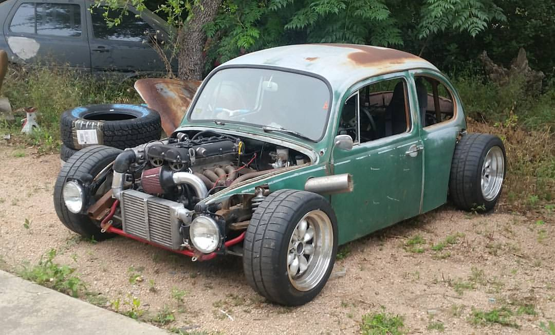 Custom Bug with a turbo 1.8 L Inline-Four and Miata drivetrain