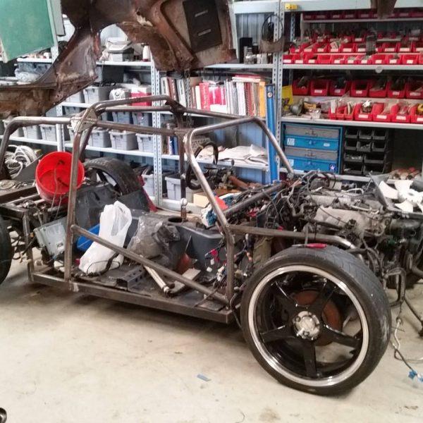Custom Bug with a turbo 1.8 L Inline-Four and Miata drivetrain