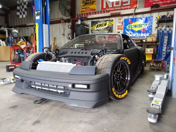 custom 1989 Honda CRX with a J35 V6 and RWD drivetrain