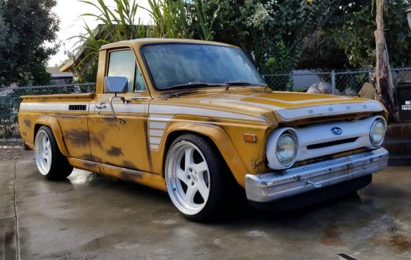 1973 Ford Courier with a 2.5 L Boxer with a Subaru AWD powertrain