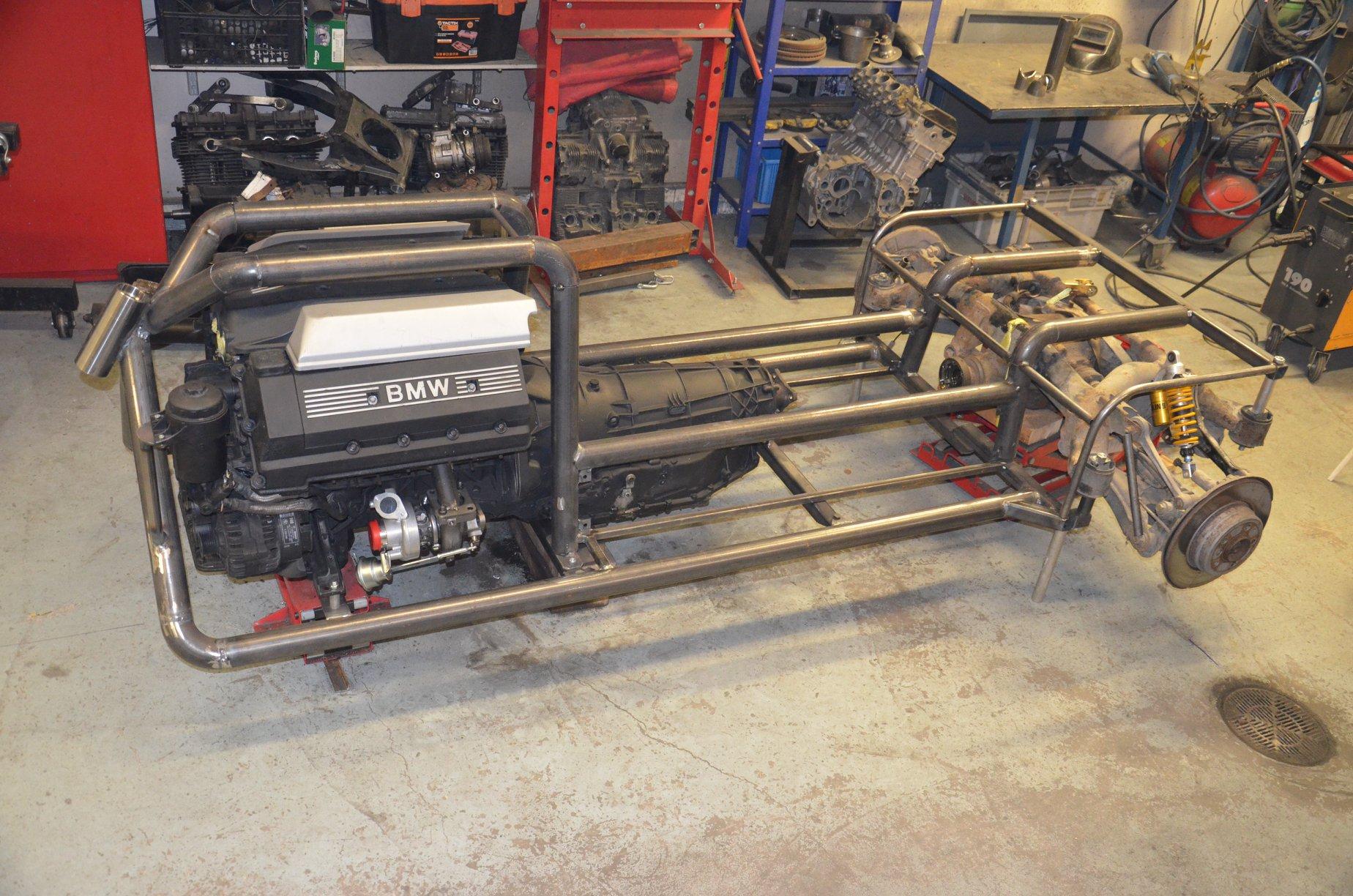 Custom Trike With A Twin Turbo Bmw V8 Engine Swap Depot