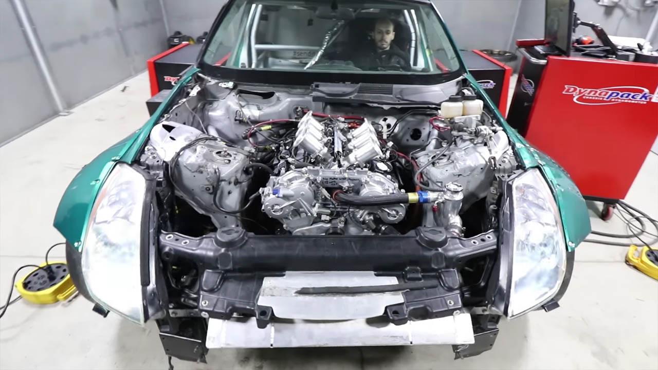 Naturally Aspirated 4 2 L VQ35 V6 Makes 537 hp to Hubs