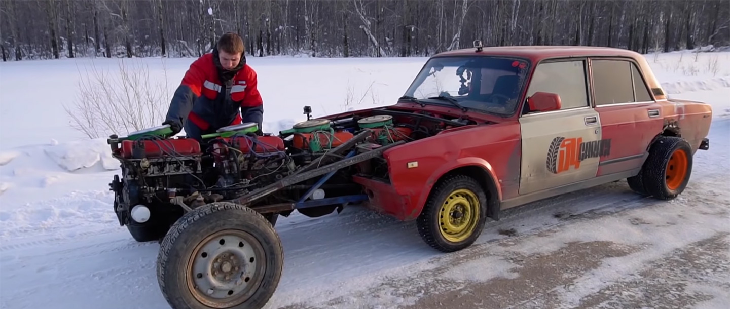 Lada Riva with Four Engines