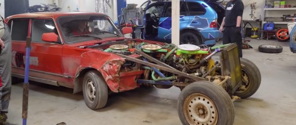 Lada Riva with a three inline-four engines