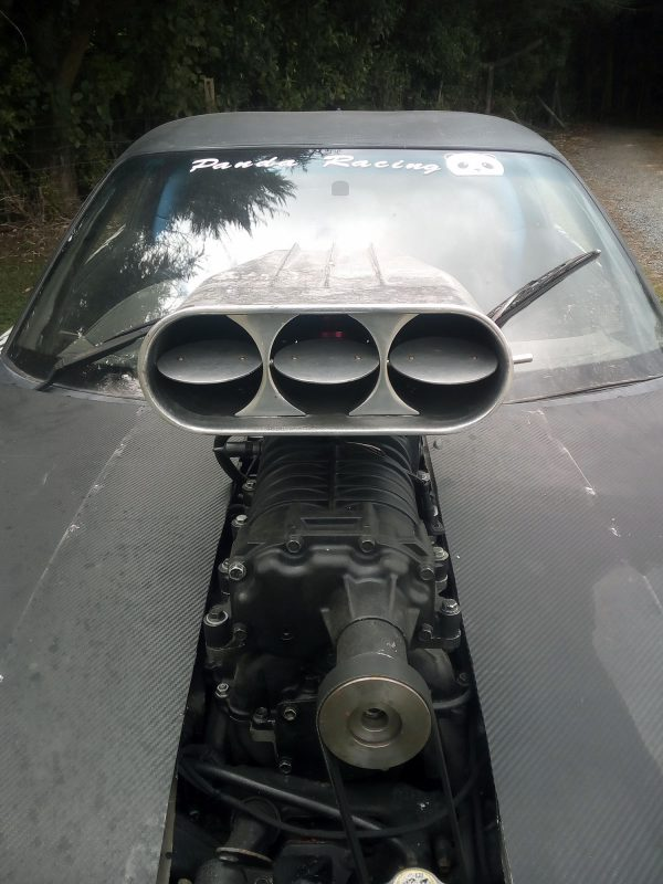 Mazda RX-7 with a supercharged 3UZ-FE V8
