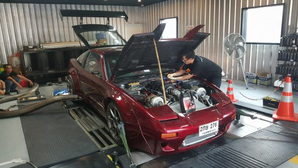 Nissan 200SX with a twin-turbo 3UZ V8