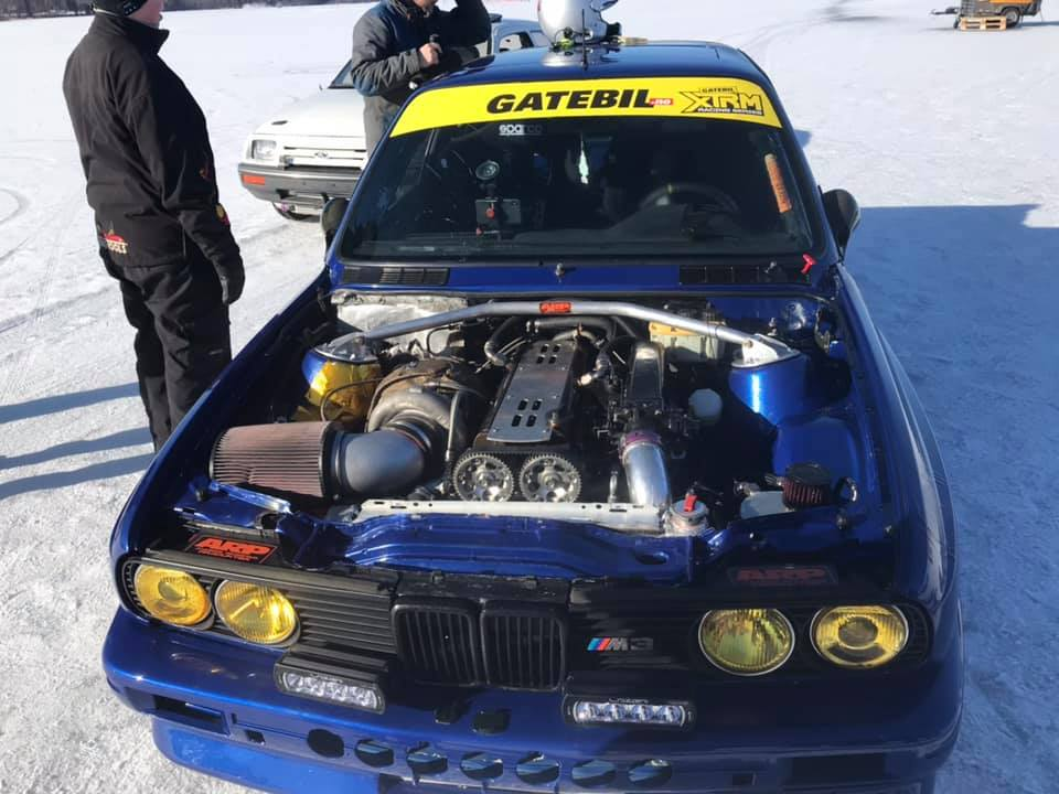 BMW E30 M3 with a Turbo 2JZ Goes 212 mph on Ice – Engine