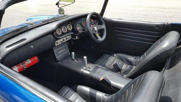 1965 Honda S600 with a Kawasaki Ninja ZX-12R inline-four