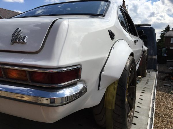 1976 Vauxhall Viva body over a Subaru Impreza powertrain