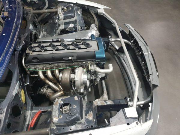 BMW E82 with a turbo 2JZ inline-six