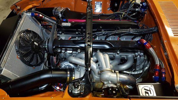 Datsun 240Z with a turbo 2.8 L RB26 inline-six