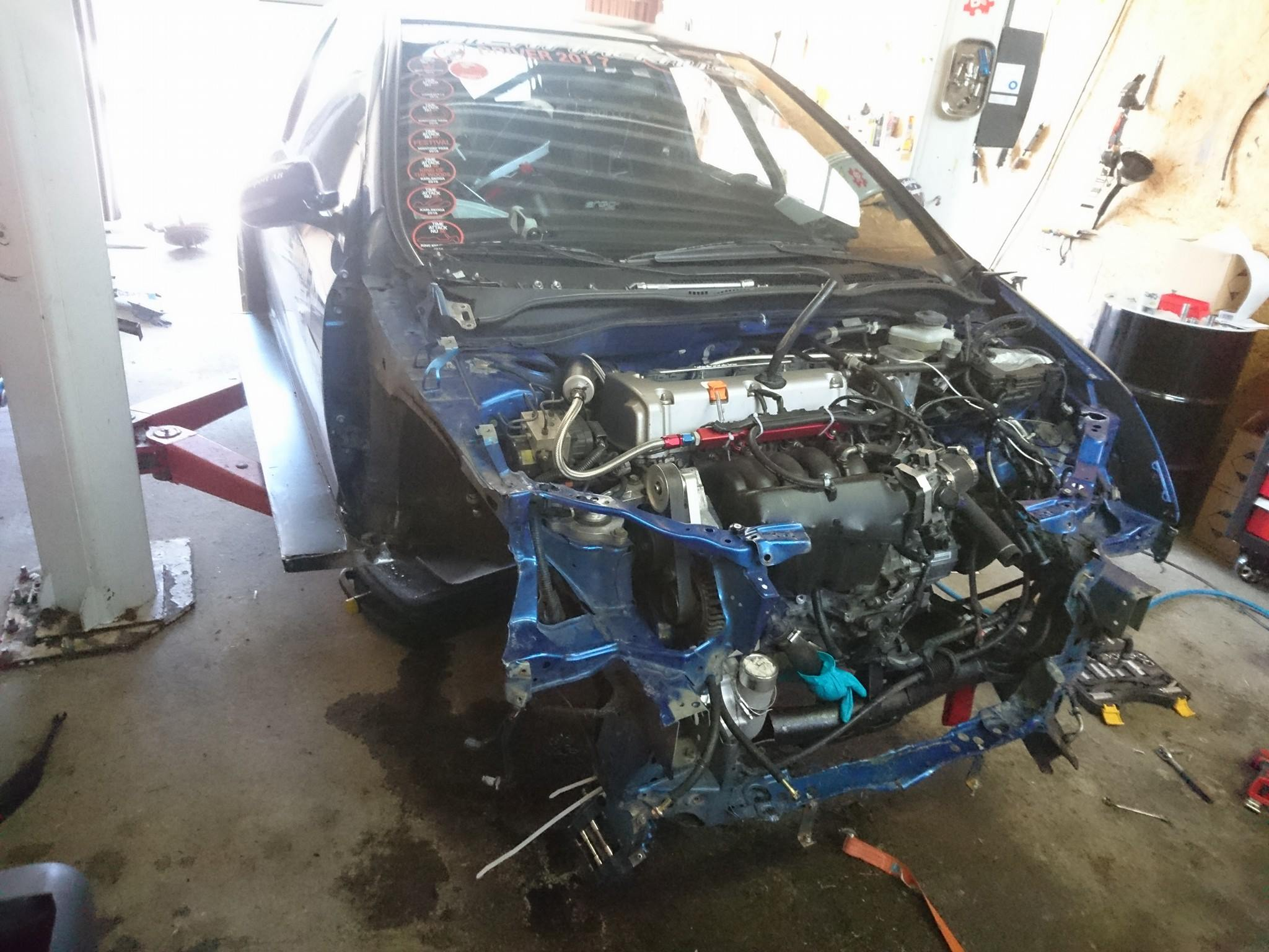Honda Civic Type R with a Supercharged K24 Inline-Four