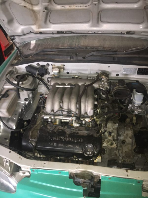 Hyundai Excel with a Mitsubishi 6G74 V6