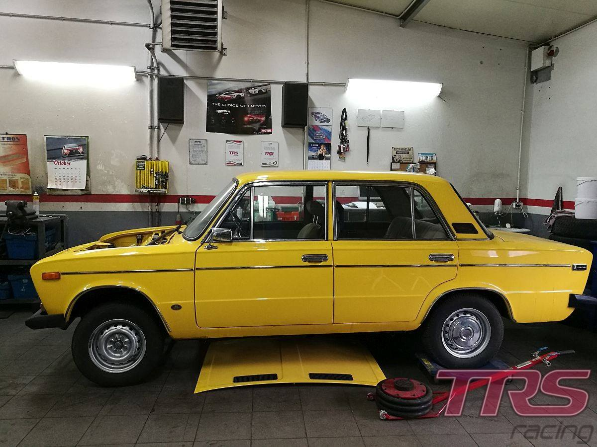 Lada 2106 with a Lancia turbo inline-five