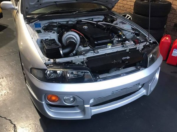 Nissan R33 Skyline with a turbo Barra inline-six