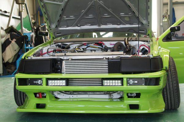 Toyota AE86 with a turbo 2AZ inline-four