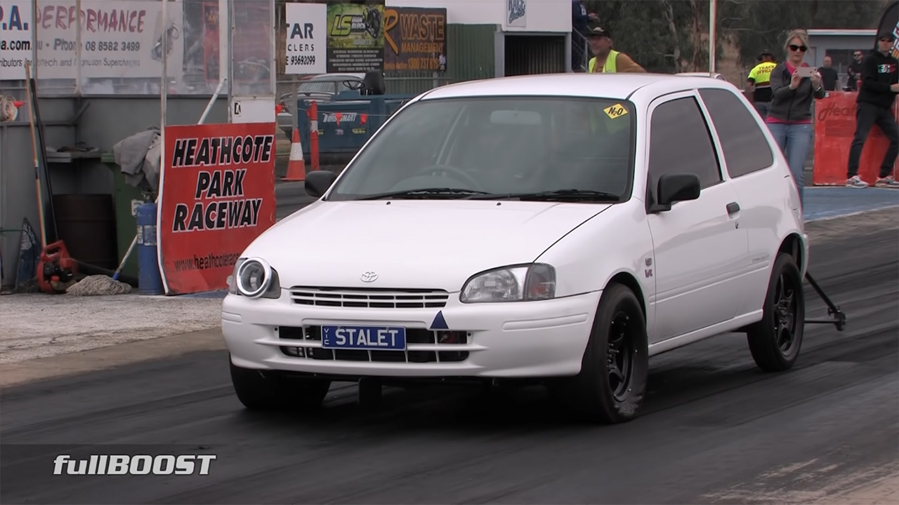 Toyota Starlet with a turbo 1.5 L inline-four