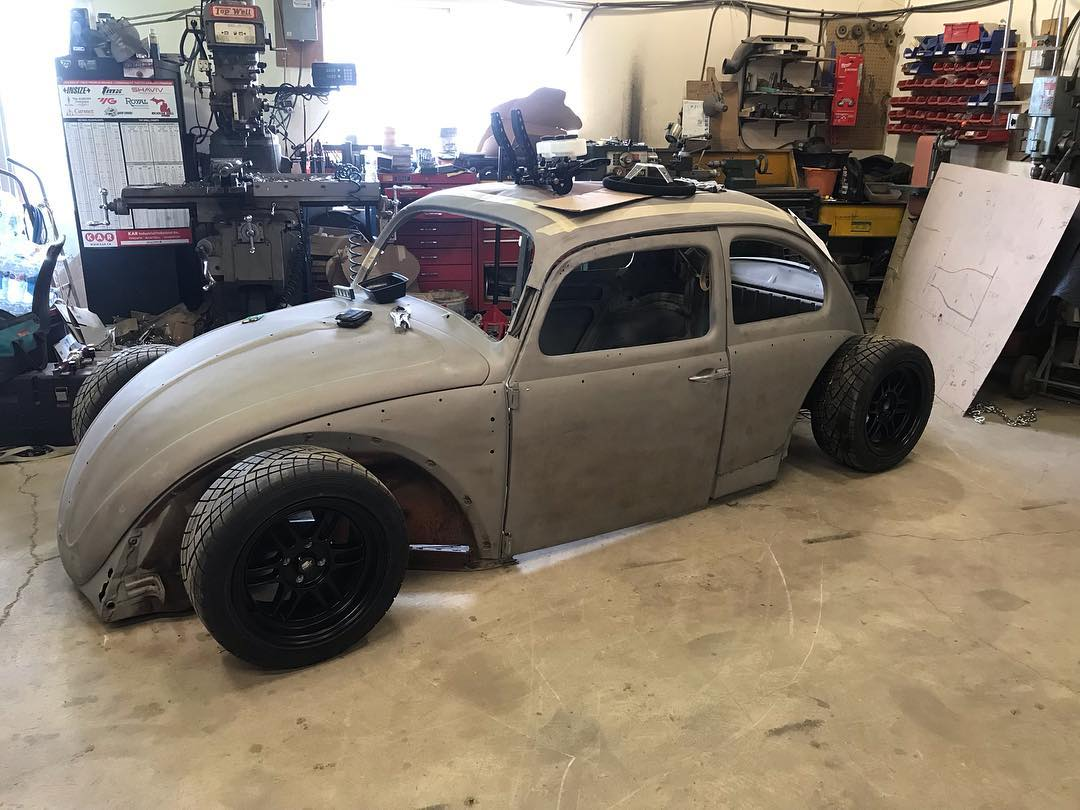 custom 1963 Beetle with a Hayabusa inline-four