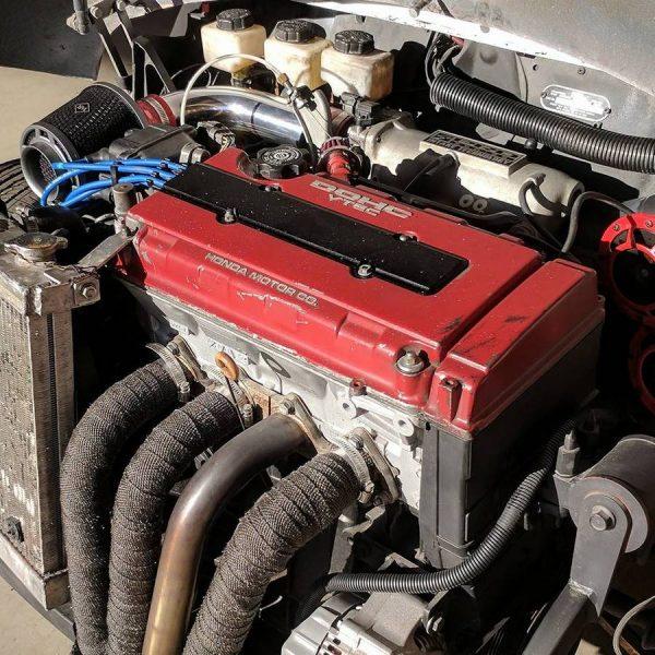 1982 Austin Mini with a Honda B18 inline-four