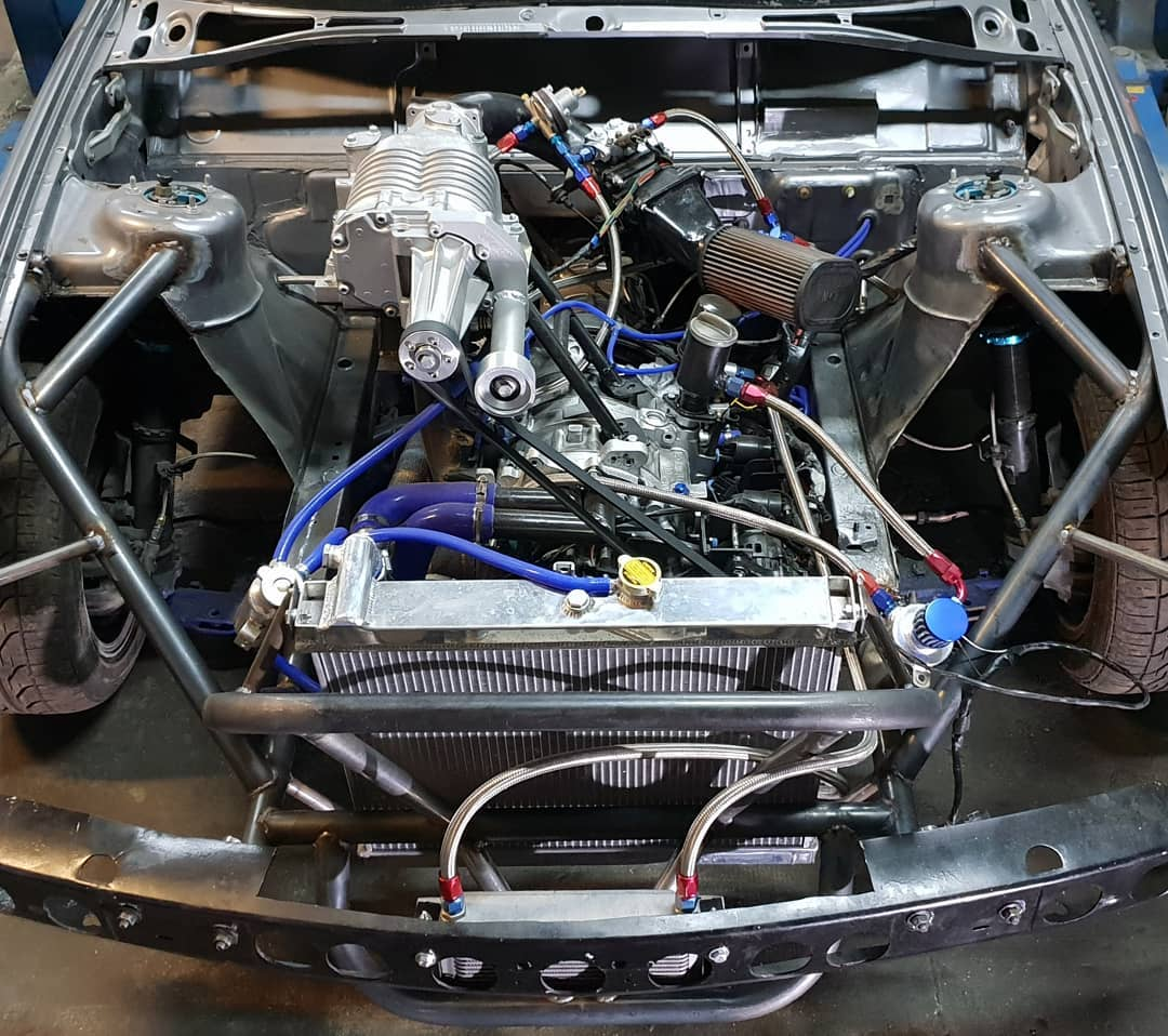 BMW E34 with a Supercharged 13B Two-Rotor – Engine Swap Depot