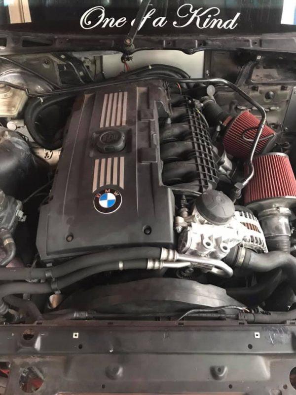 BMW E36 drift pickup with a twin-turbo N54 inline-six