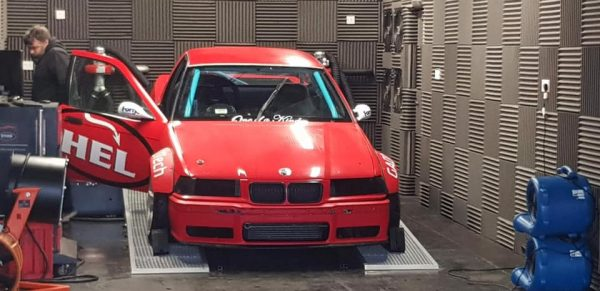 BMW E36 drift pickup with a twin-turbo N54 inline-six